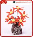 Charbon de bambou arrangement de fleurs pour la décoration maison ou les assainisseurs d'air