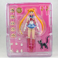 """Japanese anime Pretty Guardian Sailor Moon 20th Anniversary Simple Style Hero 6"""" sexy girl Action figure"""