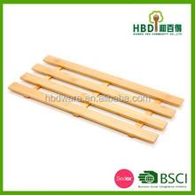 Popular design square wooden kitchen door mat wholesale
