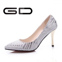 Latest beautiful 2015 new girl shoes new design fashion lady shoes for wedding
