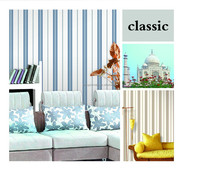 Classic and modern stripe wall paper for home/office wall
