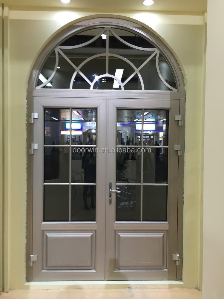 Exterior de aluminio doble vidrio franc s puerta de for Puertas de exterior con cristal