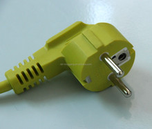 EU power cord with right angle Schuko plug