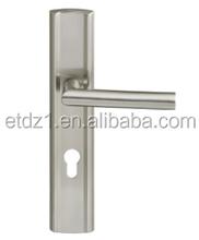 brass single cylinder front door lever handle panel lock ETDL-B036
