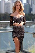 strapless lace asymmetrical wrap maxi dress
