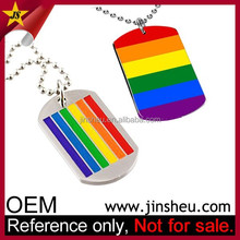 Global Wholesale Promotional Cheap Custom Text Rainbow Gay Pride Dog Tag