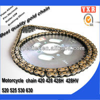 hot sale x-ring motorcycle chain,chain sprocket triple roller chain,transmission kit titanium motorcycle chain