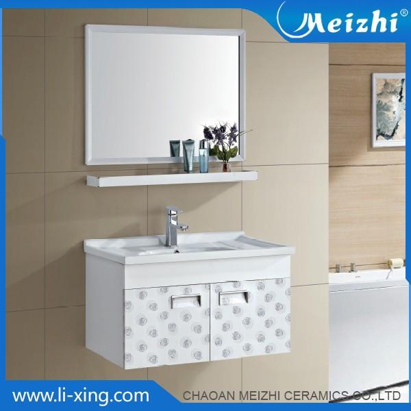 Ceramic aluminum mirror bathroom cabinet set buy for Bathroom 94 percent