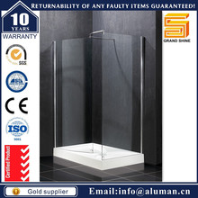 Modern Design 6mm glass quality double swinging bath screen bl038 for Residential Houses