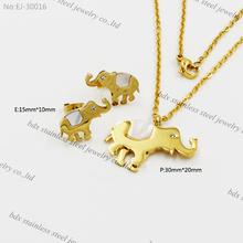 2015 yeni ürün altın fil kolye hayvan biçimli takı elmas