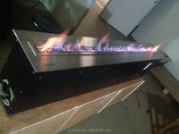 indoor french stainless steel fireplace with bio ethal fuel