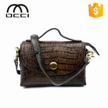 elegant ladies trend real leather shoulder messenger bag made in china mini lady leather bag QY1286