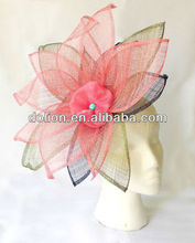 Elegant Big and Colorful Flower Fascinator Sinamay Supplier