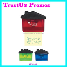 house shaped plastic magnetic clips / promotional spring paper clip / advertising magnet memo paper clip