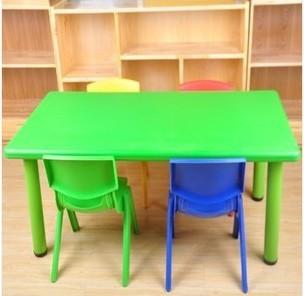 Popular no t xico linda plaza mesa de preescolar con 6 for Muebles para preescolar
