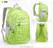 2015 new design high quality child school bag for teenage girls waterproof