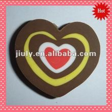 2014 SHAPED LOVELY HEART ERASER FOR IDEAL GIFT