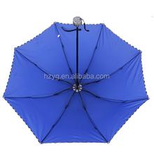 21'' mannualfolding aluminium sun/rain umbrella for advertising