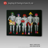 clown oil painting for decoration wall