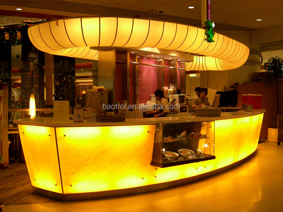 Cafe bar decoration modern furniture small bar counter juice bar