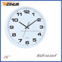 abs round 40cm digital 3d big size wall clock