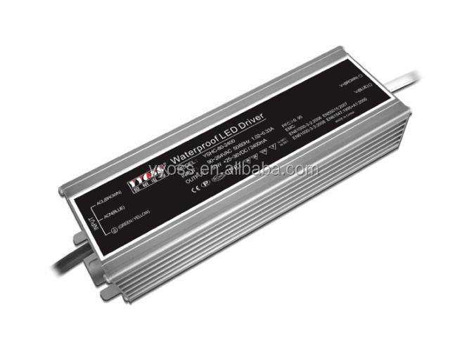 ip67 ac dc constant current dimmable led driver with ce rohs TUV/80w 700/1050/1400/2400ma dimmable Power supply YSHC-80-700D