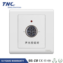 Q3-SCA-B Fire Resistant Automatic Turn Off Light Sensor and Time Delay Voice Control Light Switch