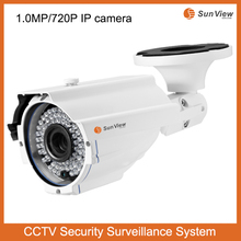 1.0mp night vision 720P security surveillance bullet P2P HD outdoor waterproof CCTVip camera cloud storage