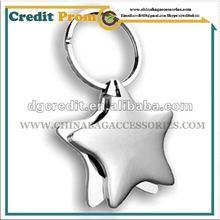 2012 Promotional Item star shape metal key chain