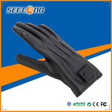 2014 Latest top quality fashion leather bluetooth gloves