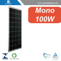 High efficiency 100w mono solar cell pv modules connect to solar power inverter for ground mounted solar panel systems