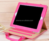 2014 Newest Hand Bag Luxury PU Leather Case for iPad 2 3 4 Cover Handbag for iPad 4 Cases With Stand Holder Multifunction