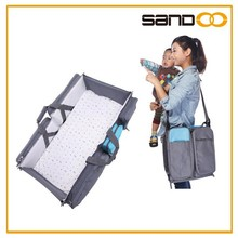 Sedex audit outdoor crib baby bed bag, foldable baby travel cot