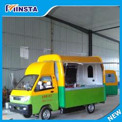 Popular Multi-function Mini Food Truck / Fast Food Cart / Hot Dog Vending Van