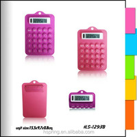 Creative bendable folding soft silicone calculator