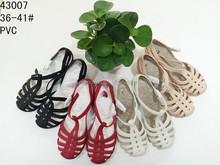 2015 top new design de moda melissa jelly sapatos wedge flatform salto médio mulheres sandália