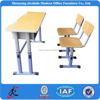 school furniture double adjustable school desks and chairs