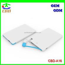 Credit Card Power Bank 2500mAh, Ultra Thin Power Bank 2500mAh