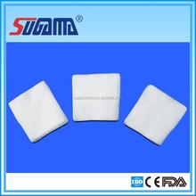 Medical absorbent sterile gauze swab folded/unfolded edge manufacturer