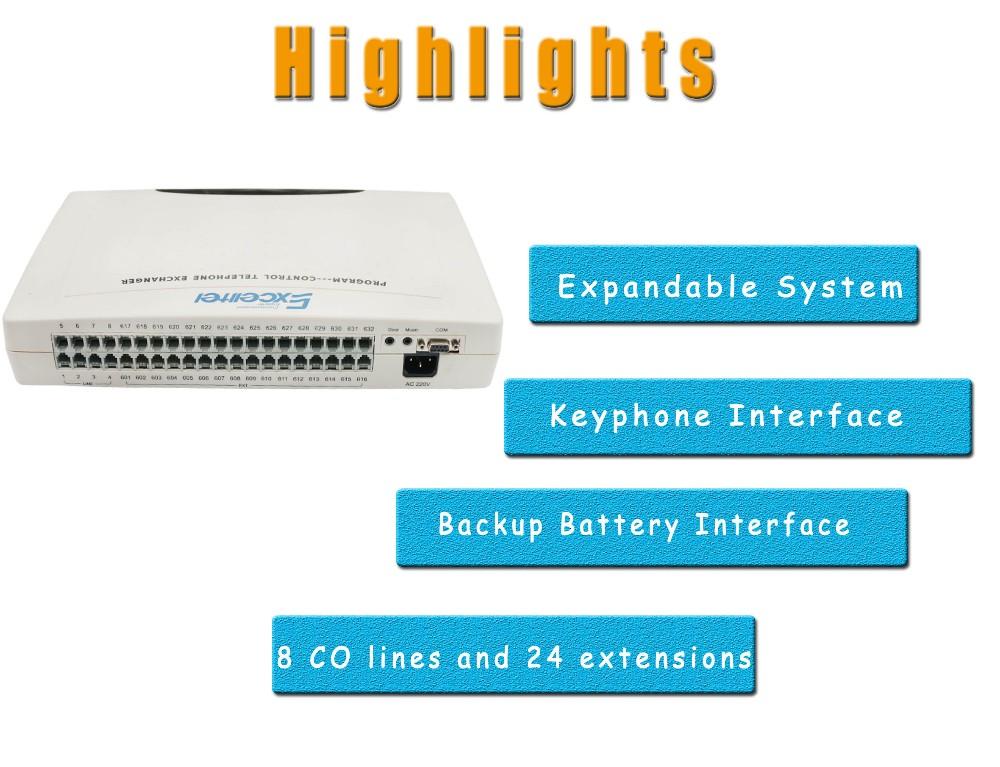 Telephone Exchange CP832-824 Intercom PABX PBX system