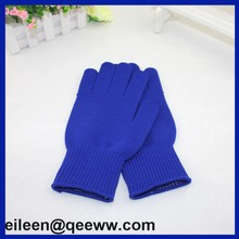 2015 Blue nylon work gloves with dotted on palm
