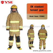 Protective Nomex firefighter uniforms