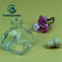 50ml aromatherapy diffuser glass bottle with rubber stopper
