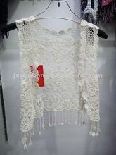Cotton cardigan vest crochet wear