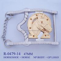 Fashion hot sale custom metal zinc alloy western cowboy bulk belt buckle