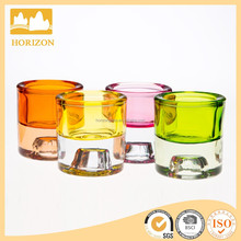 Colorful Dual-use Glass Candlestick Holder & Tea Light Holder