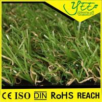 Interlocking Artificial Grass Tile Green Garden Chinese Artificial Grass