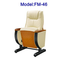 FM-46 PU leather church pulpit arm chairs with fixed leg