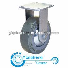 heavy duty fix rubber caster wheel
