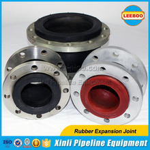 Rubber flange flexible joint for pvc pipe
